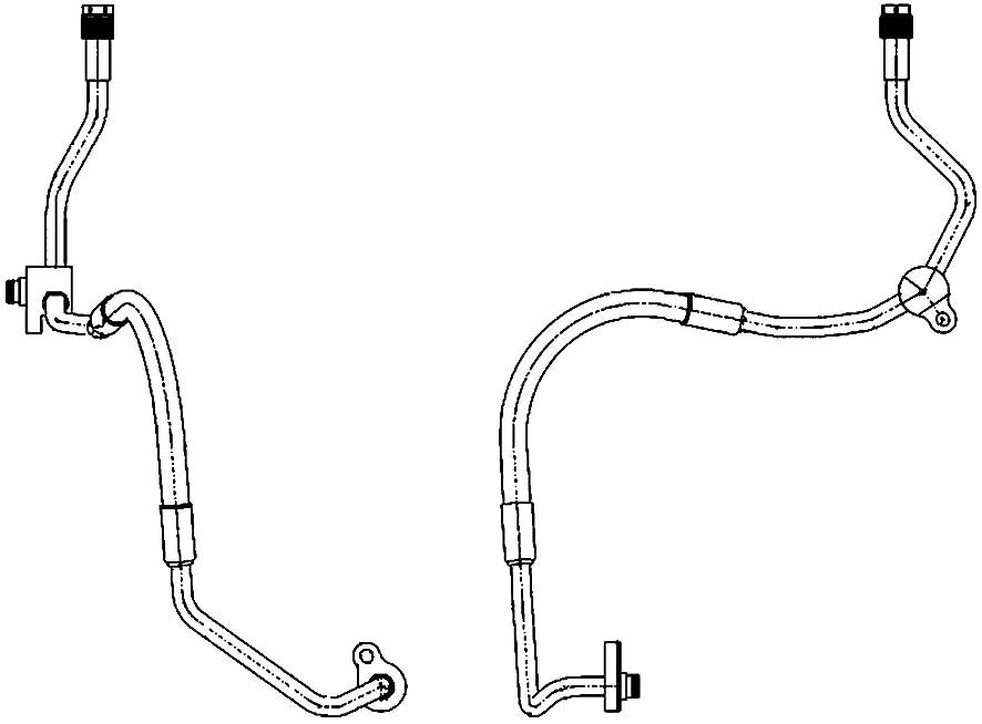 BEHR HELLA SERVICE 9GS 351 338-461 PREMIUM LINE High Pressure Line, air conditioning, from air conditioning compressor to condenser