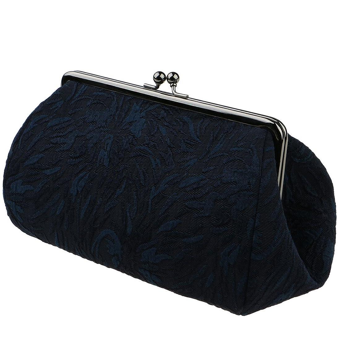 商業の誕生日しかしながらwatona ジャガード 化粧ポーチ(スリム)50-55sh (5寸 スリムサイズ, こん)