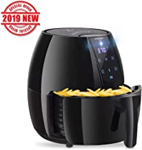 Posame Air Fryer Electric Programmable Hot Airfryer (1500W-4.2QT)-LCD Digital Touch Screen Fryer for Healthier Crisp Foods with Anti-scratch and Easy Clean Design, Auto Off and Memory Function
