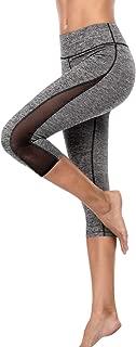 Sociala Womens Capri Yoga Pants High Rise Workout Leggings Stretch Sports Tights