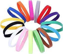 Tilious 15 Colors Puppy ID Collars,Soft, Adjustable & Reusable,Suitable for Newborn pet Dog Cats