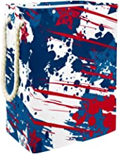 Laundry Basket Grunge American StarsCollapsible Laundry Hamper for Bathroom Bedroom Home Toys and Clothing Organization