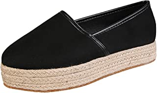 Slip On Loafers,ONLY TOP Womens Platform Espadrille Slip-On Sneakers Low Cut Round Toe Flat Shoes Walking Shoes
