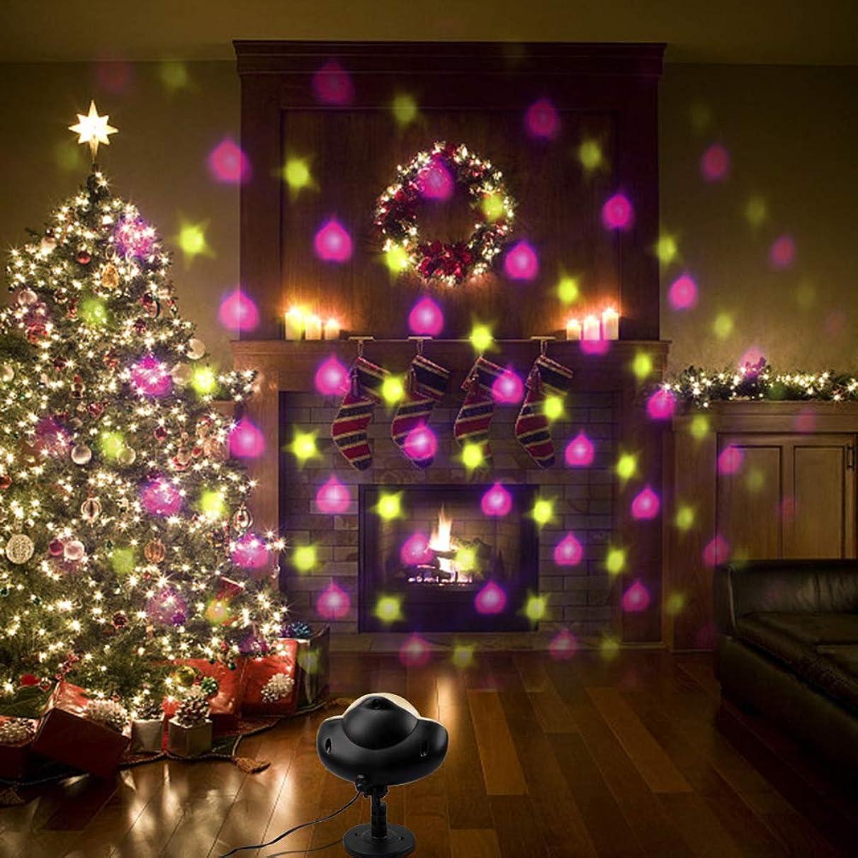 タイトスイッチペナルティクリスマスハロウィンギフトスノーフレークライト芝生ライトミニ LED プロジェクター防水爪超高輝度リムーバブルリモートコントロールの庭屋外バーに適した