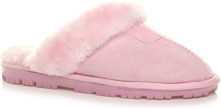 Amazon.co.uk: Pink Slippers for Women