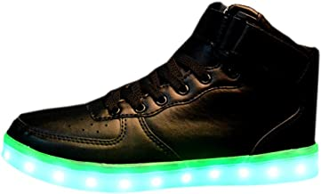 ON Women Men Unisex High Top USB Charging LED Shoes Flashing Sneakers