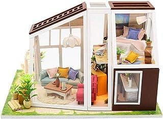 XYZMDJ miniatyrdockhus, gör-det-själv kabin modell innovation hand, tredimensionellt pussel mini växthus-pysselkit dockhus