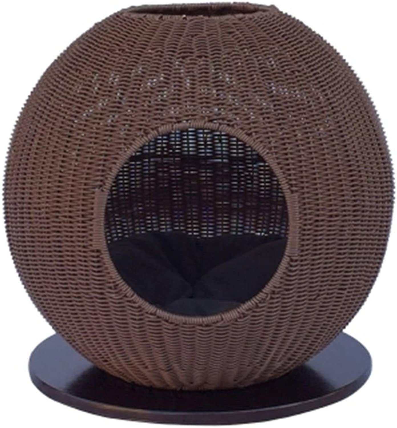 AosyGFR Rattan Round Summer Hot New Cat Litter Cat Climbing Frame House Cat Bed House Cat Toy Removable Wash Pad