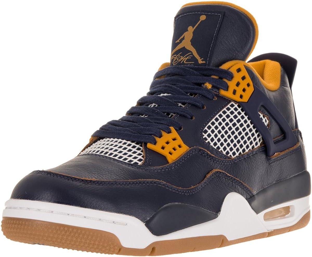 Nike Air Jordan 4 Retro, Chaussures de Fitness Homme, Bleu/Jaune ...