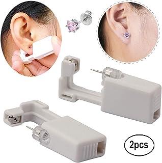 Hermosa Ear Piercing Gun Earring Disposable Ear Stud Gun Sterile No Pain Ear Piercing Gun 2 Pack