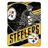 The Northwest Company NFL Pittsburgh Steelers 'Deep Slant' Micro Raschel Throw Blanket, 46' x 60' , Black