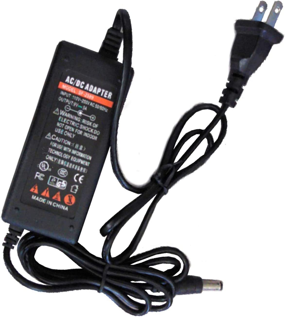 UpBright New Global 9V AC/DC Adapter Compatible with Life Fitness 118E-00001-0267 118E-00001-0165 118E-1-0267 118E-1-0165 LifeFitness 9VDC Power Supply Cord Cable PS Battery Charger Mains PSU
