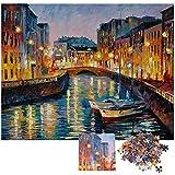 Herefun Jigsaw Puzzle 1000 Piezas, Creativo Puzzle Adolescentes Puzzle Rompecabezas para Infantiles, Descompresión Divertido Juego Familiar, Decoración para El Hogar Regalos (Venecia)