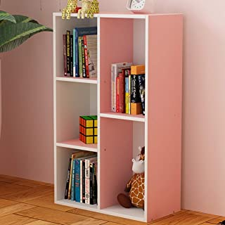 ABCCS Armoire de Rangement en Bois bibliothèque Cube, Cinq Compartiments, Affichage Maison/Bureau