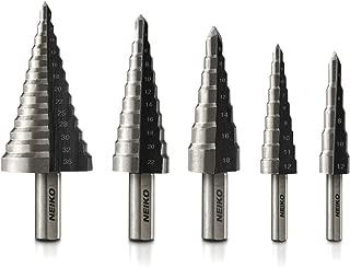 Neiko 10198A Metric Step Drill Set | 5-Piece Metric