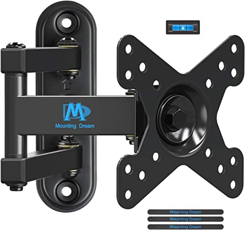 Mounting Dream Full Motion TV Monitor Wall Mount Bracket for 10-26 Inch LED, LCD Flat Screen TV and Monitors, Mount w...