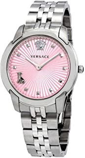 Versace Audrey Quartz Pink Dial Ladies Watch VELR00419