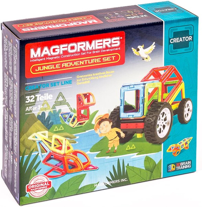 Unbekannt MAGFORMERS 274-79 - Jungle Adventure Set