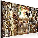 murando - Cuadro en Lienzo Klimt 120x80 cm Impresión de 3 Piezas Material Tejido no...