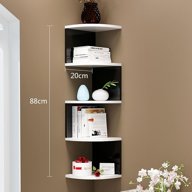 Wall Racks, Solid Wood Shelves, Creative Wall Shelves (color   D)