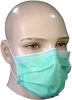 Filtra 4-Ply Ear Loop Surgical Face Mask - Green 50 Pcs (BFE > 98%) TT-4GEM