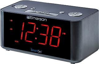 Emerson SmartSet Alarm Clock Radio with Bluetooth Speaker, Charging Station/Phone..