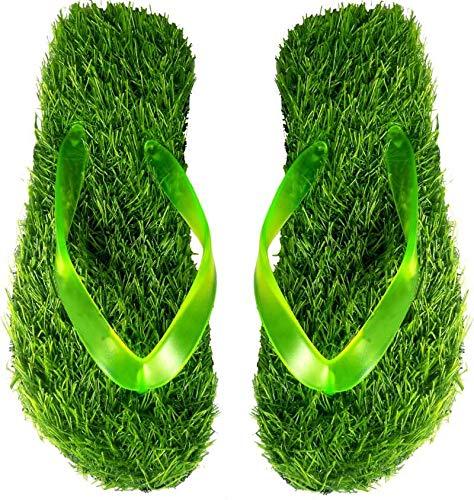 Relieco Double Soft | Grass | Casual | Lightweight | Comfortable | Healthy | Slipper | Flip Flop | Khadau for Men (1 Pair) (V-Shape, Numeric_9) Green