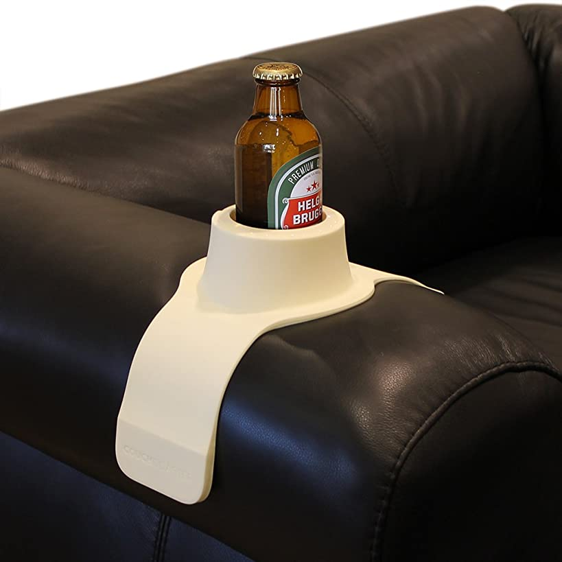 CouchCoaster – The Ultimate Anti-Spill Cup Holder Drink Coaster for Your Sofa or Couch, Cool Cream