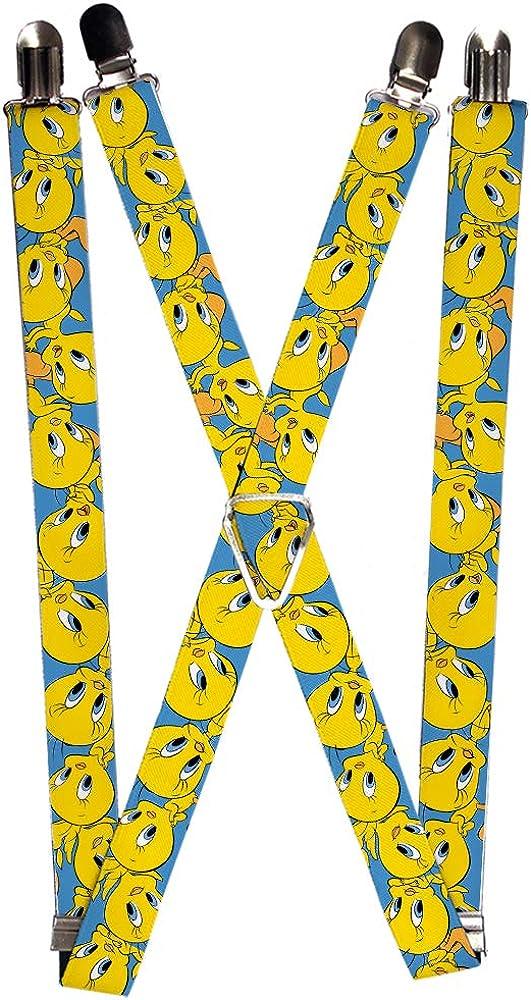 Buckle-Down Men's Suspenders-Tweety Bird Expressions2