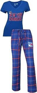Concepts Sport New York Rangers NHL Game Day Women's T-Shirt & Flannel Pajama Sleep Set