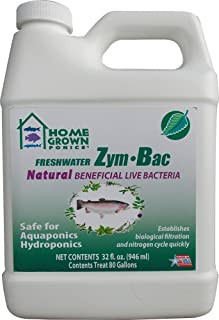 HOME GROWN PONICS Zym Bac # 96047 Natural Beneficial Bacteria, 32 oz. (Available 12/cs)
