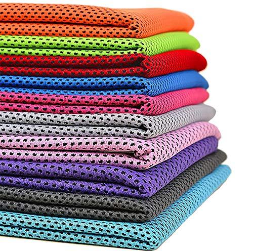 クールタオル 10枚セット ひんやりタオル 冷却タオル 熱中症対策 ネッククーラー 冷たいタオル 冷えるタオル