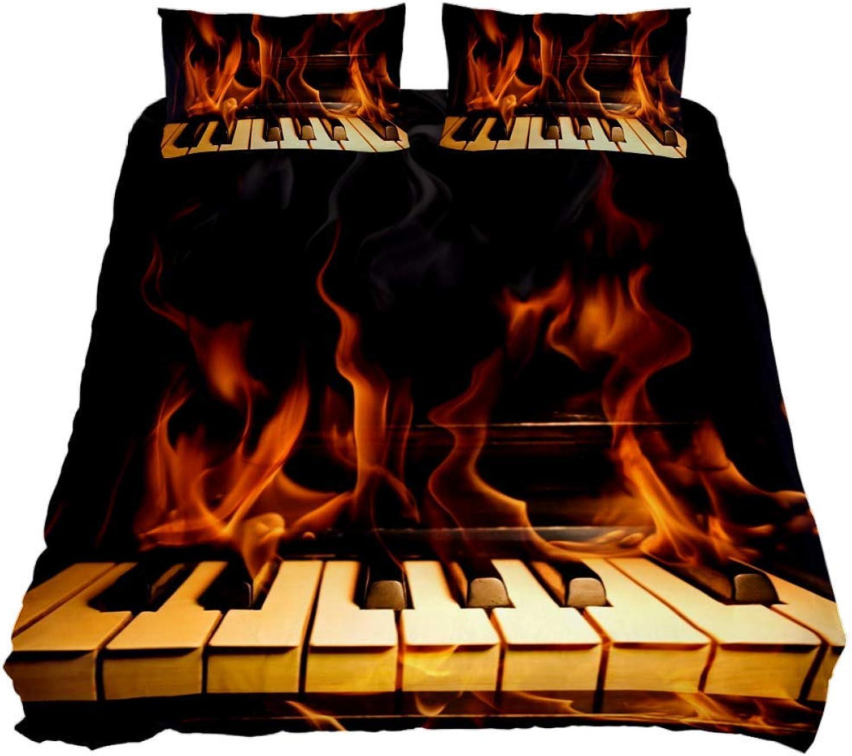 Hay más marcas de productos de alta calidad. Eslifey - Juego de Funda de edrojoón edrojoón edrojoón de 3 Piezas de Piano de 150 x 200 cm para Hombre y Mujer, Full 79 x 91 \19 x 29 in  comprar descuentos