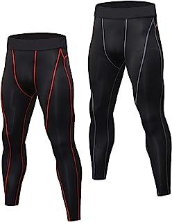 comprar comparacion Niksa 2 Piezas Mallas Hombre Running Leggings Deporte Pantalones Largos de Compresión