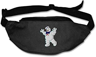 Unisex Stay Puft Marshmallow Man Sporting Waist Bum Bag Black