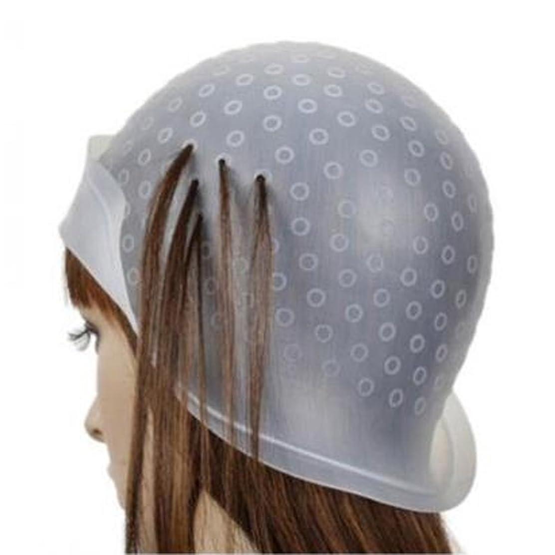 必要としている好きである同封するヘア キャップ メッシュ 髪染め用 ヘアキャップ シリコン製 毛染め 洗って使える ヘアカラー 部分染め 自宅 透明(棒付き)