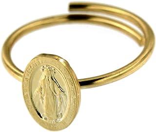 Anello Madonna Miracolosa regolabile   Argento 925