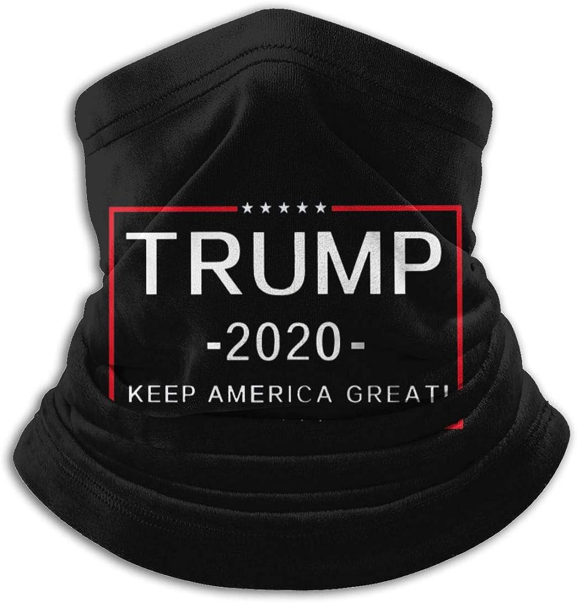 Trump 2020 Black Multi-function Neck Warmer Gaiter Polyester Neck Warmer Windproof Winter Neck Gaiter Cold Weather Scarf For Men Women