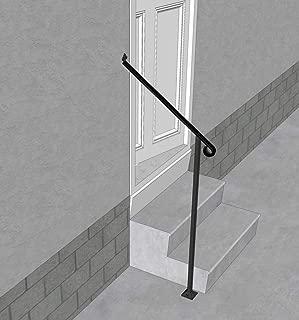 floor mounted stair handrail
