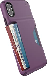 Speck Products Presidio Wallet iPhone Xs/iPhone X Case, Cabbage Purple/Vintage Purple