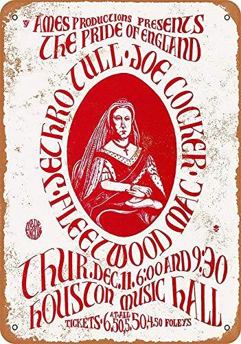 Lorenzo Jethro Tull in Houston Vintage Metall Eisen Malerei Plaque Poster Warnschild Wohnzimmer Cafe Bar Bier Club Party Weihnachten Hochzeit Dekoration