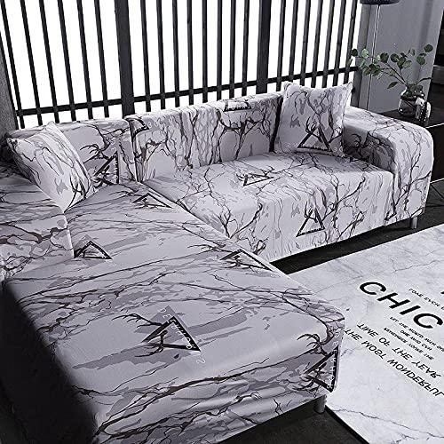 WXQY Funda Protectora elástica Funda de sofá Suave Antideslizante decoración del hogar Muebles Funda Antipolvo Funda de sofá Todo Incluido A14 4 plazas