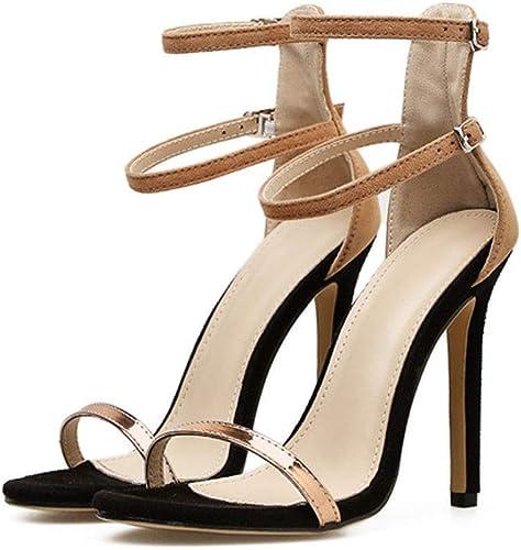 Sandalias de tacón Alto con tacón Alto Sexy para mujer de tacón Alto .zapatos de Moda