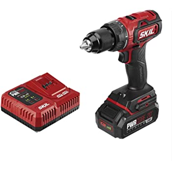 SKIL PWRCore 20 Brushless 20V 1/2 Inch Drill Driver, Includes 2.0Ah Lithium Battery and PWRJump Charger - DL529302