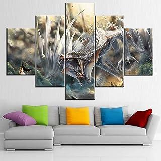 TUMOVO 5 Piece-Gloomy Scenery HD Prints on Canvas, Artwork-19, 60''W x 40''H