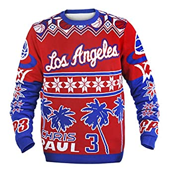 Los Angeles Clippers Paul C #3 Player Ugly Sweater Large