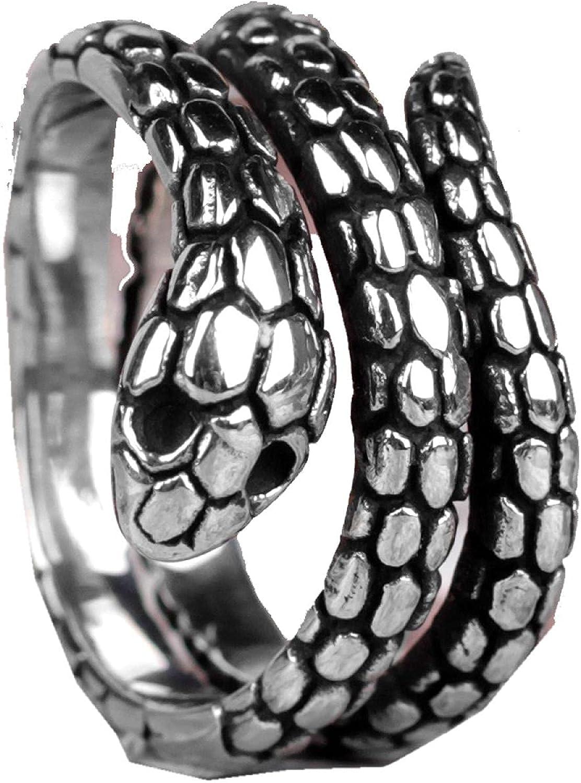 316L Stainless Steel Credence Snake Animal Man Hip Large special price Men Rock Ho Rings Punk