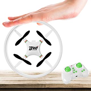 Dwi Dowellin Mini Drone for Kids Beginners Indoor RC Quadcopter 2.4Ghz 4CH 6-Axis Nano Drones RTF Helicopter D1 White