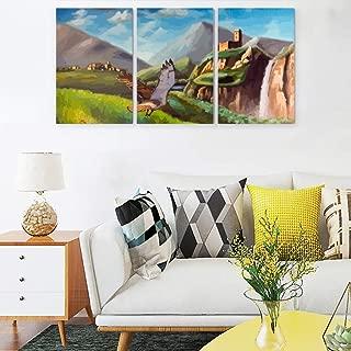 Jolyhui Mountain River Pattern Art Paintings 12