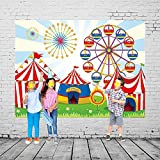 Qian Vinyl Ferris Wheel Photo Background Circus Carnival Party Backdrops Baby Cosplay Party Studio Props 7x5ft